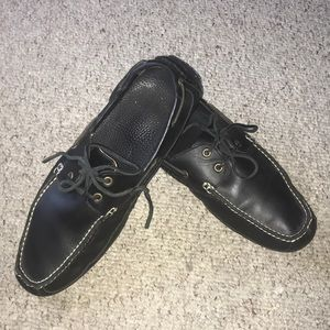 POLO Black leather loafers